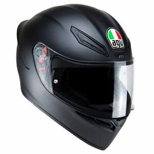 AGV K1 Matt Black Full Face Motorcycle Motorbike Helmet