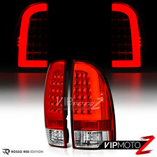 [TRD STYLE] Red LED Neon Tube Rear Tail Lights Brake Lamps 05-15 Toyota Tacoma