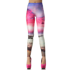 Fashion Women Leggings 3D Digital Fashion Slim Legings Galaxy Pink Printed M