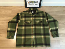 PATAGONIA FJORD ISULATED FLANNEL PLAID SHIRT JACKET SZ XL FOREST GREEN BROWN