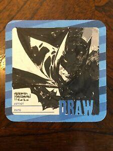 GABRIEL HARDMAN original art BATMAN Hero Initiative Drink & Draw coaster