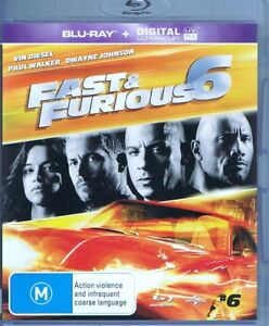 FAST & FURIOUS 6 Blu-Ray NEW & SEALED Digital Ultraviolet Expired FREE POST Trac