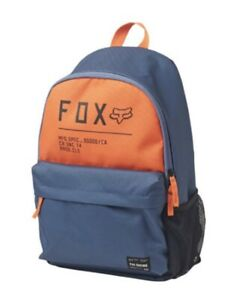 FOX RACING NON STOP LEGACY BACKPACK, BLUE/ORANGE, ONE SIZE.
