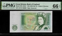 Great Britain  1 Pound 1981 - 84 PMG 66 EPQ UNC P#377b