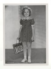 "Shirley Temple 1937 Union Dresden Film Star Series 16 5""X7"" Cigarette Photo Card"