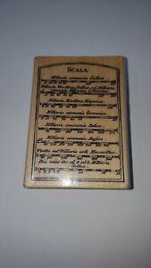 "Hampton Art Rubber Stamp Scala Scale Chart Italian PS0672 3.25"" x 2.2"" 7  A1"