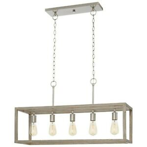 Home Decorators Collection 7965HDCDI Boswell Quarter 5-Light Brushed Nickel I...