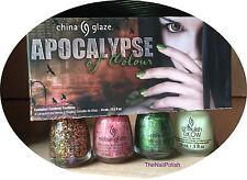 China Glaze Nail Polish APOCALYPSE Of Color Collection 4 Bottles Halloween NEW
