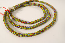Vieja abalorios Venecia Murano cg66 old Venetian striped trade beads afrozip