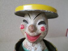 Old Tin Clown Jack in the Box Can Pop Up Toy Pull Magic Knob Educational Crafts