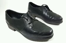 Rohde womens black leather low heel shoes uk 4