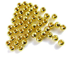 3mm Gold Plated Smooth Round Beads (1000) Bulk Lot