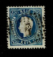Portugal SC# 32, Used, some toning, sm bottom very shallow thin, p 12.5 - S10047