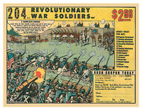 Marx 100 toy soldiers battleground ad 204 PC REV WAR COMIC AD