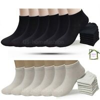 New 6 12 Pack Mens Womens Multi Color Low Cut Ankle Socks Sport Size 9-11 10-13