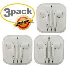 3Pack Generic for Apple IPhone Headset-Earphones-Earbuds-Headphones w/Remote Mic
