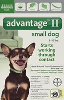 Bayer Advantage II for dogs Advantage Flea Control for dogs 3-10 pounds 6 Pack