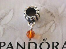 Authentic Pandora Sterling Silver Birthstone Charms 790166R November - Amber