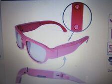 Que Design E227798BRG Rechargeable 1080p Action Video Camera Sunglasses w/8GB Mi