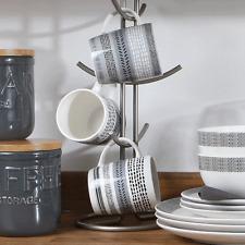 Set di 6 David Mason OTTO Barrel tazze Grande Porcellana Caffè Tè Bevanda calda cups