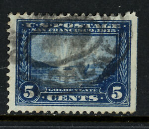 SCOTT 399 1913 5 CENT PANAMA PACIFIC EXPOSITION ISSUE USED VF CAT $10!
