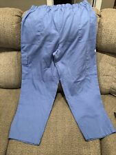 Crest Womens Cargo Scrub Pants Size Xl Style 129 Ceil Blue