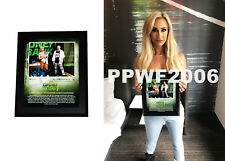 WWE CARMELLA MITB HAND SIGNED FRAMED PLAQUE 10X13 WITH PICTURE PROOF AND COA