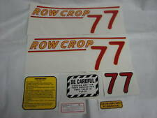 Oliver 77 Row Crop Tractor Decal Set Red Numbers NEW FREE SHIPPING