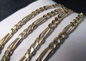 "14K Solid Gold FIGARO Necklace  20.5""L.   SALE-SAVE $1,200.   #578"