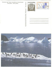 TIMBRES TAAF ENTIER POSTAL 1994 MANCHOTS COTE € 9.00