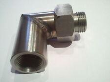90 Degree Lambda Boss Oxygen Sensor Exhaust De cat Pipe O2 Lamba Nut M18 x 1.5mm
