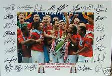 MANCHESTER UNITED 2008 Premiership Fully signed Print