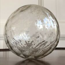 A Large Antique Victorian Hand Blown Glass Christmas Bauble, 19th Century.