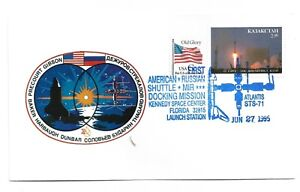 KAZAKHSTAN   Cover with space postmark AMERICAN-RUSSIA shutle. 27.06.1995