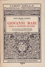 Luigi Mario Capelli, Giovanni Mari, Famiglia meneghina, poesie, 1955