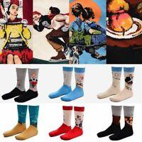 chaussettes l'ensemencement la nouveauté la peinture art bonneterie de coton