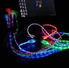 Glow Luz Led Data Sync cargador Carga Cable De Alimentación Para Iphone 4s,5 s,6 Micro Usb