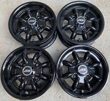 4.5x10 Minilight Wheels Set of 4 To Fit Classic Mini + 145/80x10 Falken Tyres