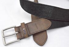 Belt Tommy Hilfiger Suede Browns Faux Leather Trim & Back XL42 Men Women NWT