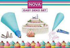 Nova Easy Deko Spritzbeutel Set Spritzdüse Spritztülle Novabest Backwerkzeug