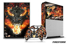 Designer Skin for XBOX ONE S 1S Gaming Console+2 Controller Sticker Decal FIREST