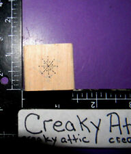 SMALL SNOWFLAKE RUBBER STAMP INKY ANTICS C1-9300