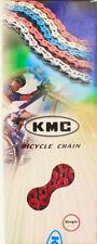 """KMC K710SL 1/2"""" X 1/8"""" BMX Bike Bicycle Chain 100 Link Single Speed Red NEW"""