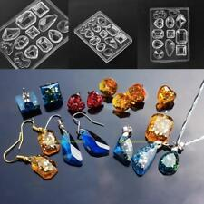 Crystal Silicone Mold Earrings Necklace Pendant Jewelry Making Mould Craft Tool
