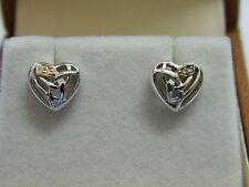 Clogau Silver & Rose Welsh Gold Eternal Love Diamond Stud Earrings RRP £139.00
