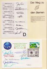 1993 Raumfahrtkongress in Österreich  8 Originalautogramme (D)