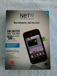 Cell Phone Net10 Huawei Glory 868,  Black Smartphone Brand New Sealed Box.