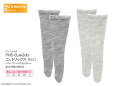 Azone Pureneemo Rumpled Soft Nit Socks A Set Grey x Light Grey Blythe Momoko 1/6