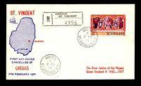 St Vincent 1977 $2 FDC / Greggs Registered - L17048
