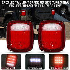 LED Tail Lights Rear Brake Lamps Turn Stop Reverse for Jeep Wrangler TJ CJ